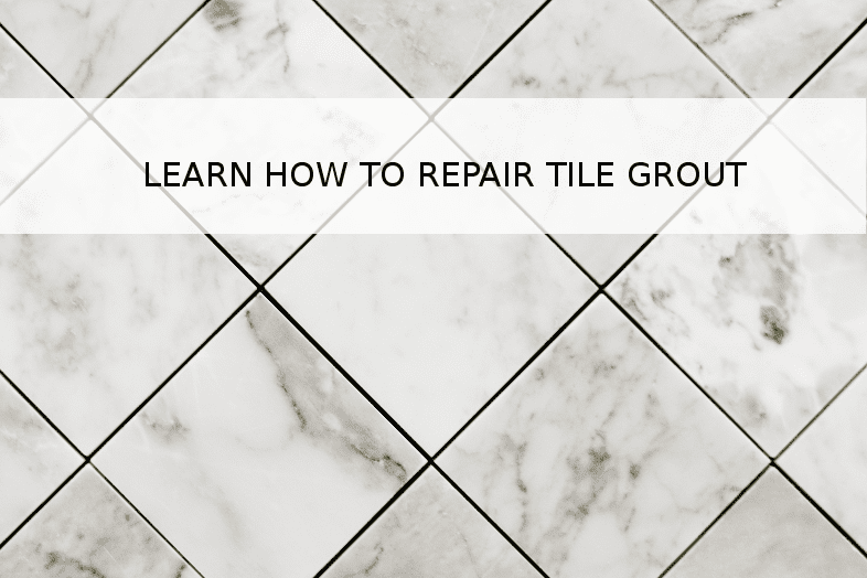 How to repair shower tile grout