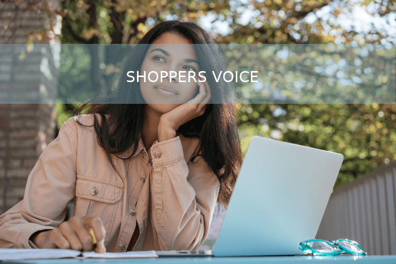Young women on shoppers voice