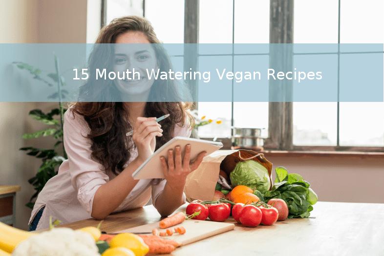 Women in kitchen planning vegan meals