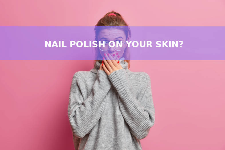 Young with nail polish on skin